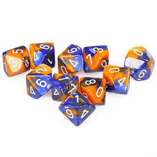 Gemini Blue-Orange D10 Set CHX26252
