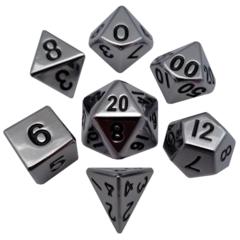 Metallic Dice 7 Die Set Silver