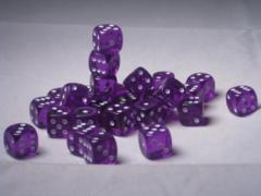 27 Brick of Purple Translucent D6