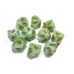 Marble - Green D10 Set CHX27209