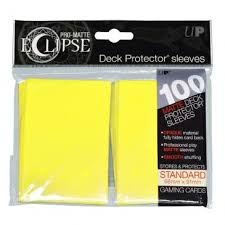 Eclipse 100ct Yellow Matte Sleeves