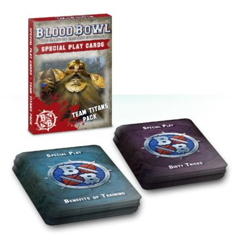 BLOOD BOWL TEAM TITANS SPECIAL PLAY CARDS