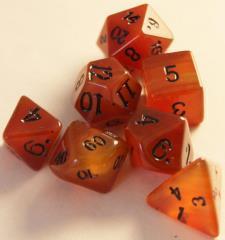 Dwarven Stones Carnelian 12mm 7 Die Set