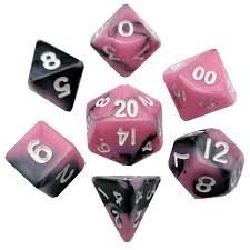 Mini Polyhedral Set Pink/Black