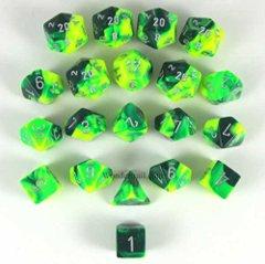 Bag of 20 Gemini Green-Yellow w/silver CHX LE875