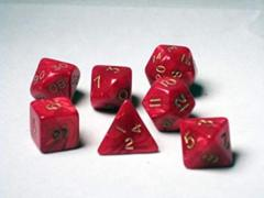 7 Die Set Red Pearl