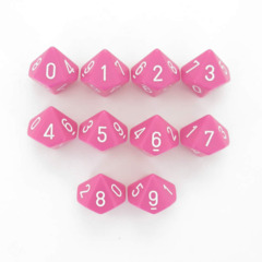 Opaque Pink/white Set of Ten D10 CHX25244