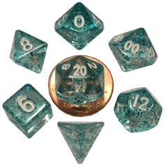 Mini Polyhedral Set Ethereal Light Blue