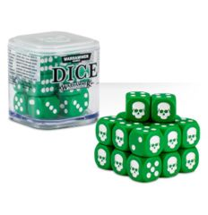 Dice - D6 Green/White