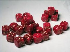27 Brick of Red Pearl D6