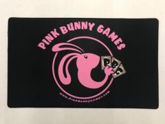 Pink Bunny Games playmat w/ stitched edge