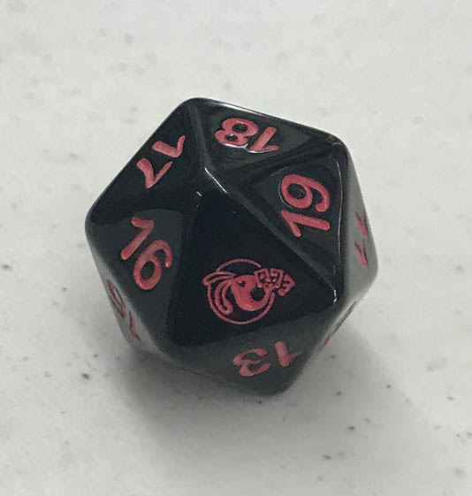 Pink Bunny Games Spindown 20 sided die