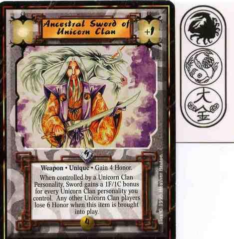 Ancestral Sword of Unicorn Clan