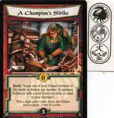 A Champion's Strike
