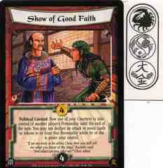 Show of Good Faith FOIL