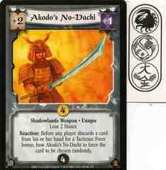 Akodo's No-Dachi FOIL
