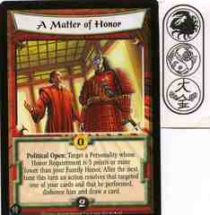 A Matter of Honor FOIL