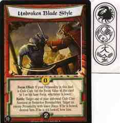Unbroken Blade Style FOIL
