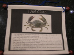 Crab Wall Scroll