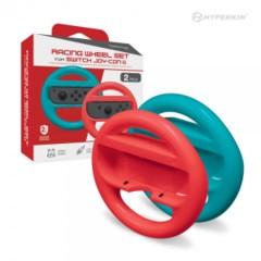 (Hyperkin) Racing Wheel Set for Switch Joy-Con (Blue/ Red)
