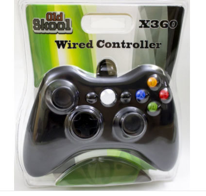 (Old Skool) WIRED USB CONTROLLER FOR PC & XBOX 360 - BLACK