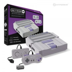 (Hyperkin) RetroN 2 Gaming Console for SNES/ NES (Gray)