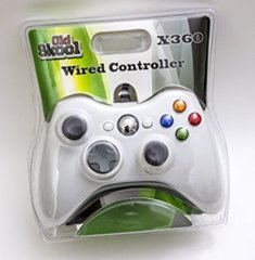 (Old Skool) WIRED USB CONTROLLER FOR PC & XBOX 360 - WHITE