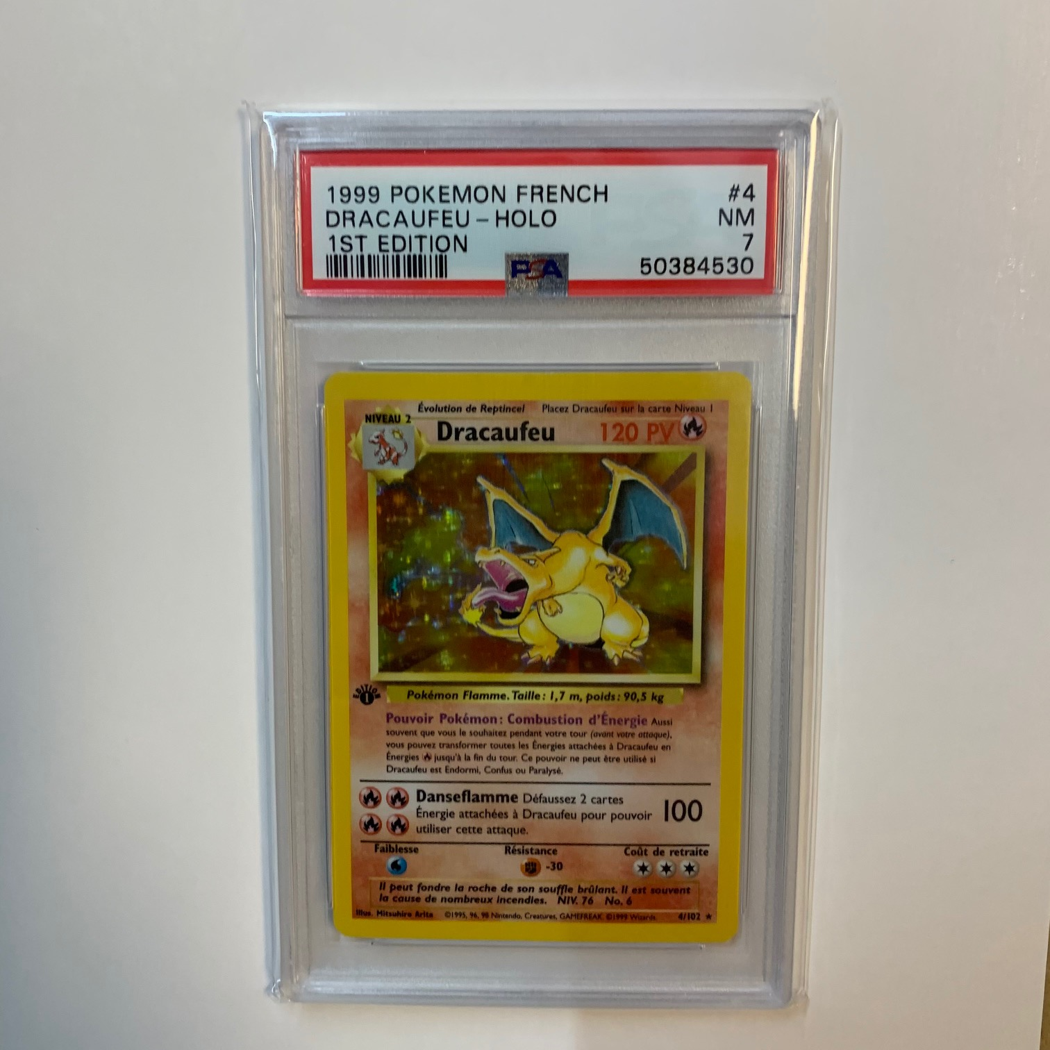 Charizard 1st Edition French PSA 7