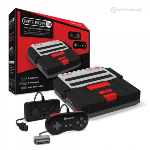 (Hyperkin) RetroN 2 Gaming Console for SNES/ NES (Black)