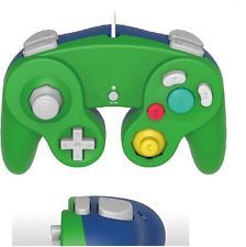 (Old Skool) GAMECUBE / WII COMPATIBLE CONTROLLER - GREEN