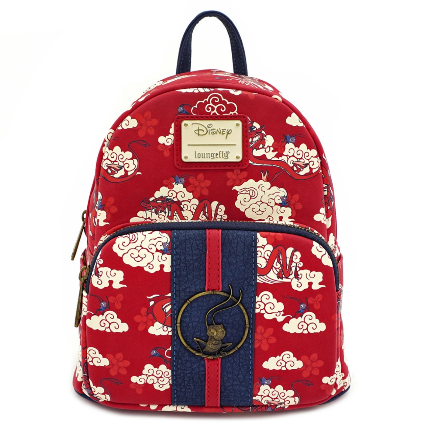 Loungefly Mushu Cloud Print Mini Backpack