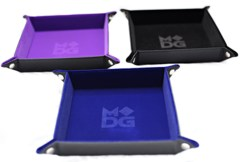 Velvet Folding Dice Tray - Purple