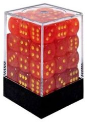 Ghostly Glow Orange and Yellow 36ct 12mm D6 Dice Block - CHX27923