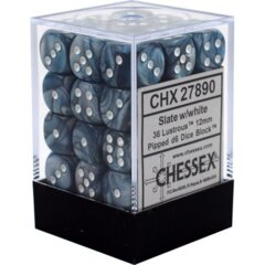 D6 12mm Lustrous Slate/white CHX27890