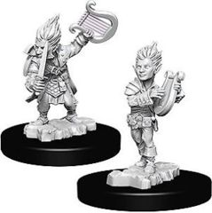 Gnome Male Bard - Wizkids Unpainted Miniatures (73344)