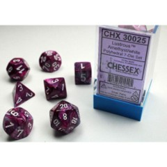 Lab Dice 7ct Lustrous Amethyst/white - CHX30025