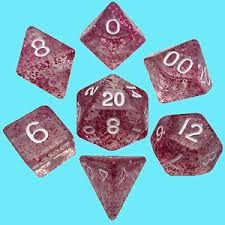 Mini Polyhedral Dice Set - Ethereal Light Purple