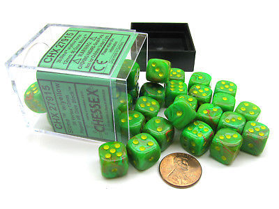 Vortex Slime with Yellow 36ct 12mm D6 Dice Block 27915