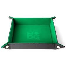 Velvet Folding Dice Tray - Green