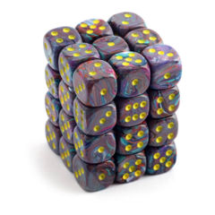 Festive Mosaic with Yellow 36ct 12mm D6 Dice Block (CHX27850)