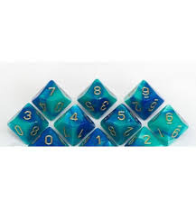 Gemini Blue / Teal with Gold - D10 CHX 26259
