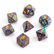 Festive Mosaic Yellow 7ct 27450 Polyhedral Dice Set
