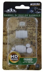 Barrel And Pile Of Barrels - Wizkids Unpainted Miniatures (73361)