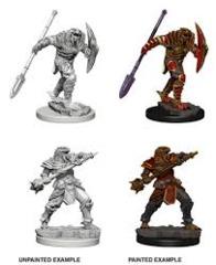 Dragonborn Fighter with Spear - Wizkids Unpainted Miniatures (73340)