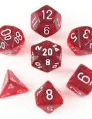 7 ct Translucent Red/White CHX23074