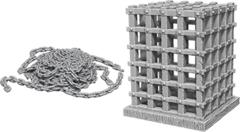 WizKids Deep Cuts Unpainted Miniatures: W6 Cage & Chains