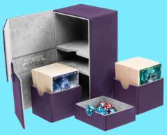 Ultimate Guard - Twin Flip'n'Tray Deck Case - XenoSkin Standard Size 160+ Purple