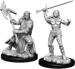 Nolzur's Marvelous Unpainted Miniatures - Female Half-Orc Fighter