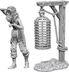 WizKids Deep Cuts Unpainted Miniatures: W10 Hanging Cage
