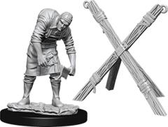 WizKids Deep Cuts Unpainted Miniatures: W6 Assistant & Torture Cross